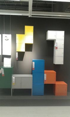 The ikea lixhult cabinets are fun and colorful storage - Ikea ps armario ...