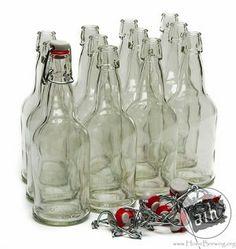 16 oz. Clear E.Z. Cap Swing top bottle -case of 12