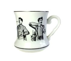 Mustache Cup 1920s Gentlemen Vintage Made by WeStartedWithAMouse