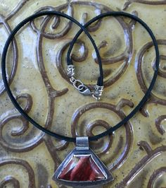 Snake skin Jasper 20 inch faux leather necklace with Tibetian silver cord ends with 18 gauge textured fine silver closed ring on clasp for security $120.00 + shipping if not local pk up...