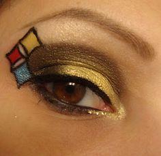 Steelers Eye Makeup #gamedaywives #steelers #makeup