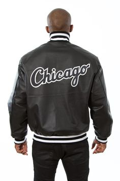 CHICAGO WHITE SOX MENS ALL LEATHER JACKET