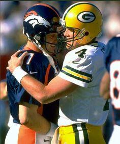 John Elway and Brett Favre