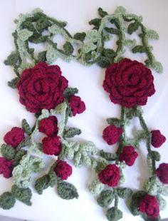 Corner of Arts: crochet scarf  Beautiful scarf... but website not English