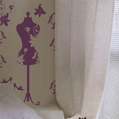 Purple Wall Mannequin - Peel N Stick Decor Wall Decor Sarah :)