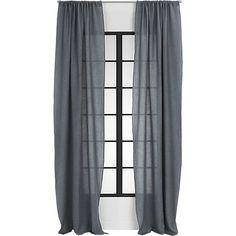 "<span class=""copyHeader"">window dresser.</span> 100% pure French/Belgian linen weaves a light-filtering sheer with drape so fine. Full-length, fashion-forward in gauzy dark grey. Flows long to floor or hems easy from overlock stitching at edge.<br /><br /><NEWTAG/><ul><li>100% linen</li><li>Rod pocket</li><li>Overlock stitching at hem</li><li>Machine wash</li><li>Made in India</li></ul><br />"