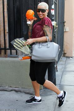Feeling pump-ed! Amber Rose, 32, had a smile on her face once again, following a day of practice with her dance partner Maksim Chmerkovskiy in Los Angles on Wednesday