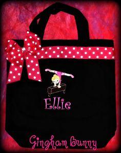 cddd5671c2effa GYMNASTICS Personalized Custom Tote Bag Birthday by ginghambunny