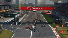 Lewis Hamilton (GBR) Mercedes AMG F1 W06 leads at the start of the race at Formula One World Championship, Rd3, Chinese Grand Prix, Race, Shanghai, China, Sunday 12 April 2015. © Sutton Motorsport Images