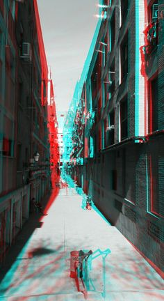 I like this image as it uses double exposure on location. It makes the location look unusual as it is in differnt colour and in i like the compostion in the image as it has a house on either side and the some thing in the middle which balances it out. Glitch Wallpaper, New Wallpaper Iphone, Vaporwave, 3d Photo, Wow Art, Glitch Art, Design Graphique, Psychedelic Art, Double Exposure