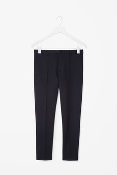 COS Classic slim jersey trousers pleat stitch