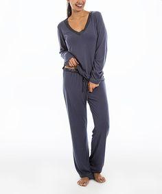 Look at this Pajama Drama Smoky Diamond Super Soft Pajama Set - Women on #zulily today!