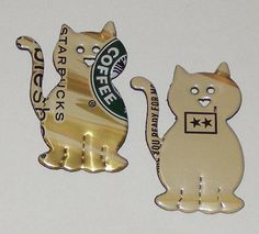 2 Kitty Cat Magnets Coca Cola Soda Can by SodaCanBuddies on Etsy