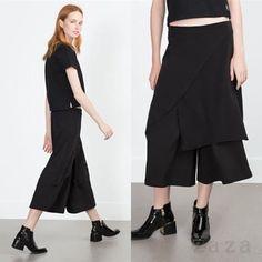 ☆★ZARA ザラ TRF★☆  ワイド裾デザインパンツ