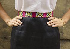 DIY Printed Trim Mini Skirt