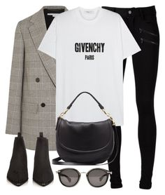 """""""Untitled #3153"""" by elenaday ❤ liked on Polyvore featuring Paige Denim, STELLA McCARTNEY, Givenchy, Mulberry, Acne Studios and Moncler"""