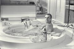 0 bath time - sean connery in james bond bathtub