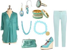 Aqua Dream, created by wherecoconutgrows on Polyvore