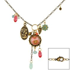 With an assortment of beads and charms dangling in a beautiful combination of color, you'll be quick to treasure this new FusionBeads.com inspiration necklace design!