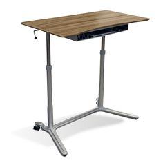 Gentil Jesper Sit U0026 Stand Height Adjustable Standing Desk   Computer Carts At  Hayneedle | Standing Desks | Pinterest | Computer Cart And Desks
