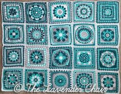 Crochet Squares Crochet Mandala Blanket CAL Joining - The Lavender Chair free patterns - Time to join up the Mandala Blanket CAL squares! I can't wait to see this blanket come together! See how to join the squares here! Crochet Mandala Pattern, Crochet Quilt, Crochet Blocks, Granny Square Crochet Pattern, Crochet Squares, Crochet Blanket Patterns, Flower Crochet, Crochet Afghans, Crochet Blankets
