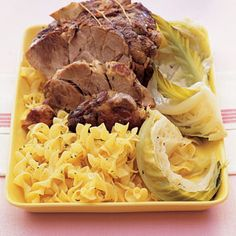 Braised Caraway Pork and Cabbage