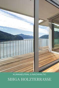 Stylische & nachhaltige Holzterrasse von SIHGA. Windows, Sustainability, Ramen, Window