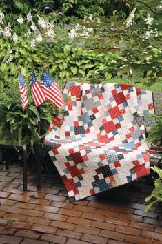 Patriotic Patchwork Digital Repro Pattern by Debra Finan in From the Love of Quilting July August 2012.