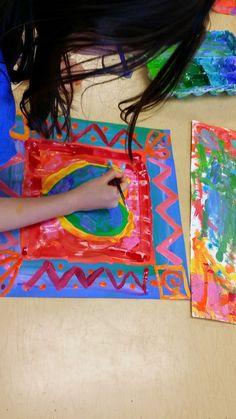 My Funny Valentine, Valentine Crafts, 2nd Grade Art, Grade 3, Third Grade, Art For Kids, Crafts For Kids, Kid Art, Valentines Art Lessons