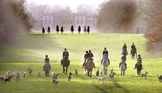 The Hunt. Oh how I would love to canter along the green!