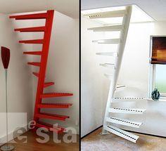 Acho que esta escada bate o recorde em espaço mínimo!