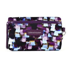 Beauty Case ($62) ❤ liked on Polyvore featuring bags, multicolor, womenbagsclutches, longchamp bag, longchamp, purple bag, multicolor bag and multi coloured bags