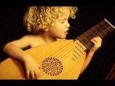 Middeleeuwse muziek luit.Kasteel.Middeleeuwen.Minstreel liedjes Nederlan...
