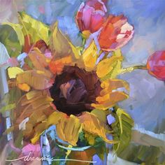 """""""All Aglow  SOLD"""" - Original Fine Art for Sale - © Dreama Tolle Perry"""