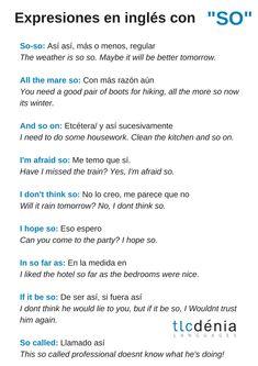 Expresiones en inglés con 'so'