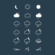19 Crisp Cadoo Weather Icons Set - http://www.dawnbrushes.com/19-crisp-cadoo-weather-icons-set/