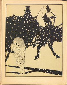 """""""The Little Match Girl"""" by Hatsuyama Shigeru from her illustrations for a 1925 book of the translated stories of Hans Christian Andersen.  http://hyperallergic.com/171984/surreal-japanese-illustrations-capture-the-spirit-of-andersens-fairy-tales/"""