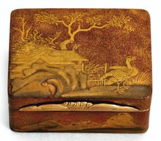 A GOLD-MOUNTED JAPANESE LACQUER SNUFF BOX, PROBABLY CLAUDE-MICHEL FILASSIER, PARIS, 1750