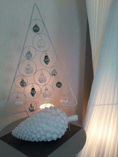 Türkis weiße Weihnachts Dekoration