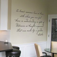 To know someone here or there... Goethe - Wall Words & Wall Decals