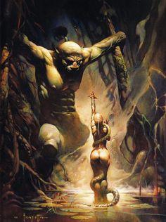 Cap'n's Comics: The Swamp Demon by Frank Frazetta