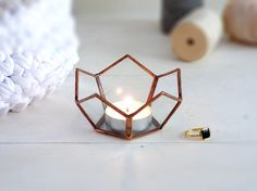 Lotus Shaped Candle holder Or Wedding Ring Box. Use As a Mini Planter, Ring Bearer Box,Wedding Ring Holder Or Candle Holder Tiffany, Ring Holder Wedding, Ring Bearer Box, Spode Christmas, Glass Terrarium, Diy Schmuck, Diy Candles, Paint Cans, Glass Art