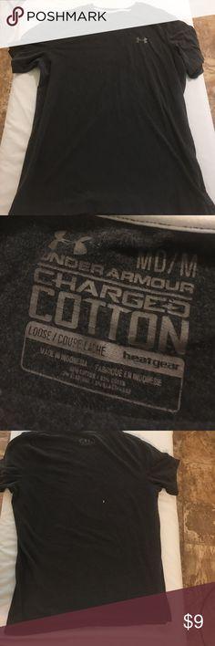 Under armor shirt Under armor shirt had a small bleach mark on back size medium Under Armour Shirts