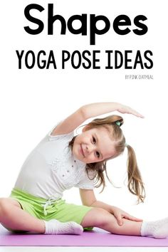 Shapes Yoga Pose Ideas For Kids. A great shapes activity and a great way to combine movement and learning. The yoga pose ideas are so simple that anyone will be able to have fun moving and learning about shapes. Perfect for preschool gross motor! Physical Activities For Toddlers, Shapes For Toddlers, Gross Motor Activities, Therapy Activities, Shape Activities, Therapy Ideas, Body Parts Preschool, Preschool Shapes, Pediatric Physical Therapy