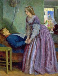 Arthur Hughes (1832-1915) was a Pre-Raphaelite painter.