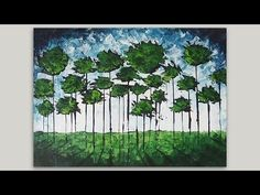 Abstract Acrylic Painting | Forest Abstract Painting | Palette Knife Spe...