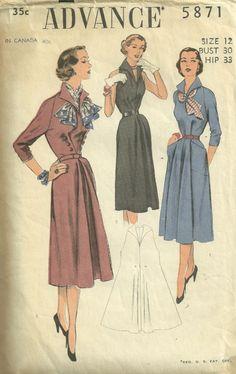 Vintage Advance dress pattern