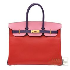 Hermes Birkin bag 35 Rouge casaque/ Pink/ Iris Epsom leather Gold hardware from Discountpluss for $40,000.00 on Square Market
