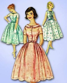 loving this pattern from Vintage4me2 ...love the neckline and options   hoping to win via @Rochelle New