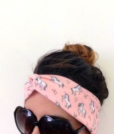 Unicorn Horse Pink headband  great for Yoga and  Relaxing find it on Etsy